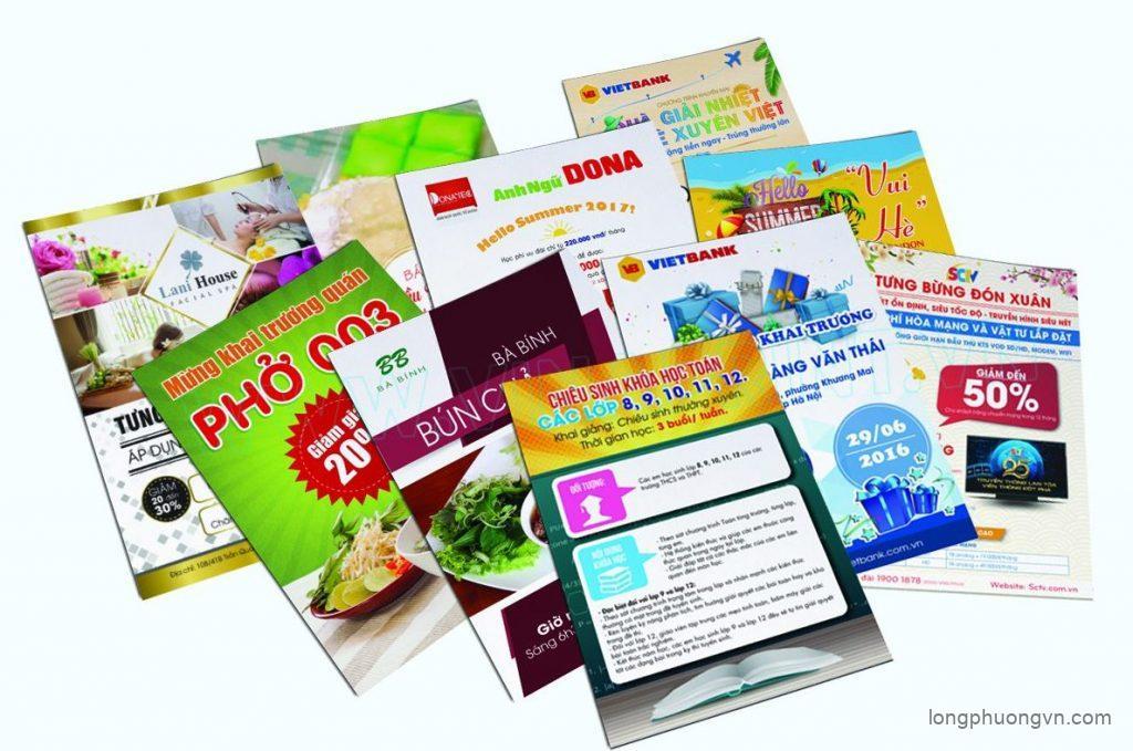 Chuyên cung cấp dịch vụ in tờ rơi giá rẻ, chất lượng