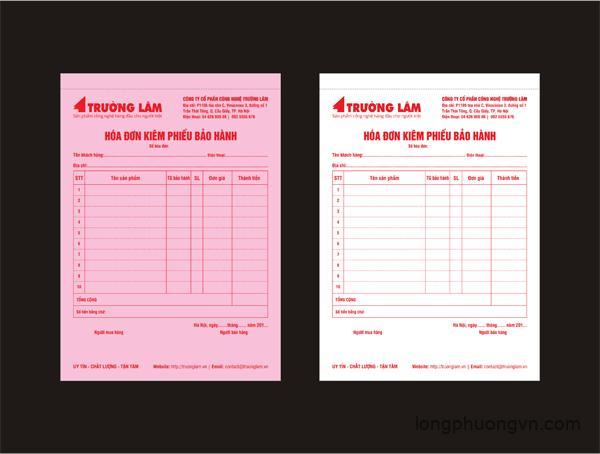 Báo giá in hóa đơn 3 liên