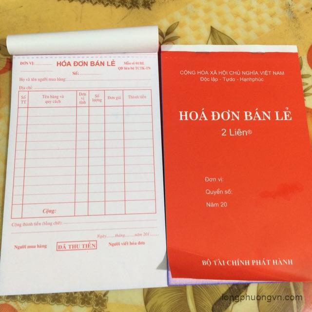Báo giá in hóa đơn A4 - Hóa đơn 2 liên