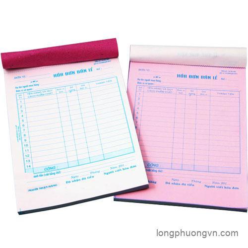 Báo giá in hóa đơn giấy Bãi Bằng