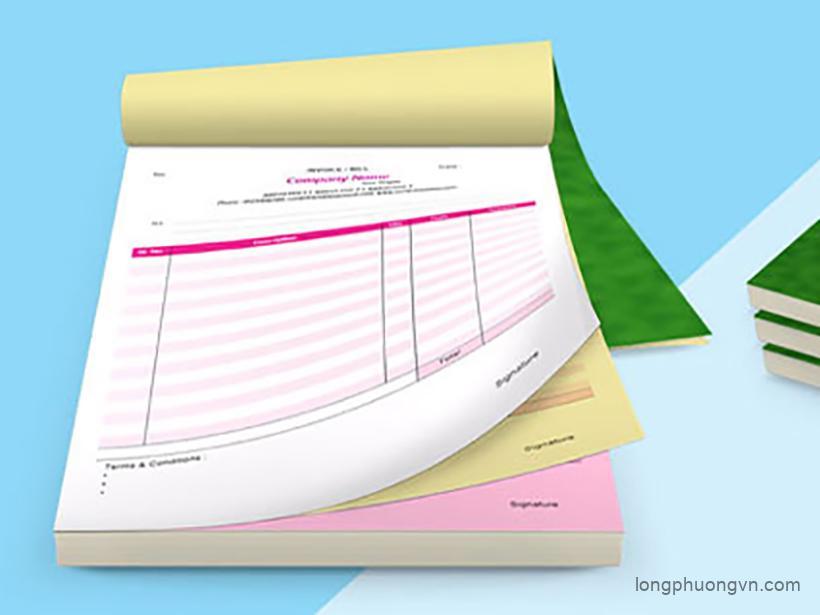 Báo giá in hóa đơn A5 tại In Long Phượng