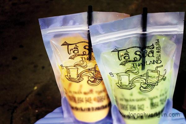 Ứng dụng túi zipper đựng trà sữa