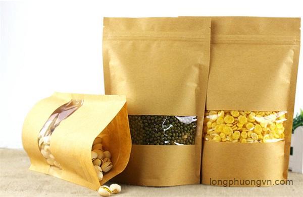 Túi zipper đứng đựng các loại hạt